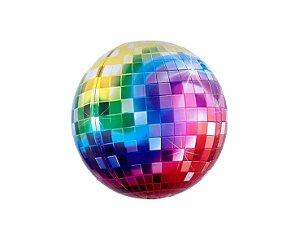 Balão Metalizado Globo Espelhado Colorido - 56cm