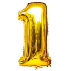 Balão Metalizado Numero 1 - Dourado 100cm