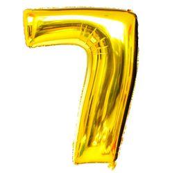 Balão Metalizado Numero 7 - Dourado 100cm