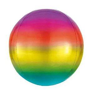 Balão Metalizado Bolha Colorida - 45cm
