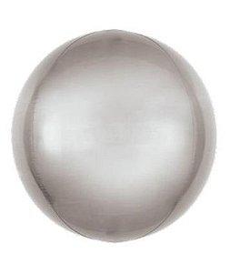 Balão Metalizado Bolha Prata - 45cm