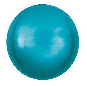 Balão Metalizado Bolha Azul - 45cm