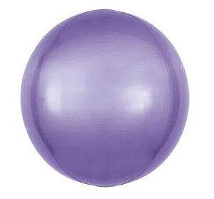 Balão Metalizado Bolha Roxo - 45cm