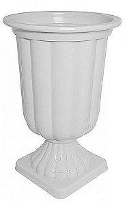 Vaso Grego Branco Solido