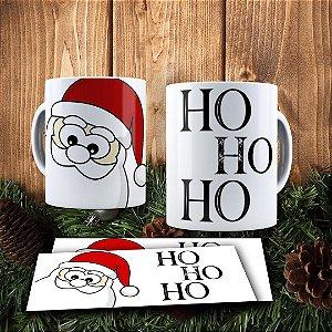 Caneca Cerâmica - Papai Noel Ho Ho Ho