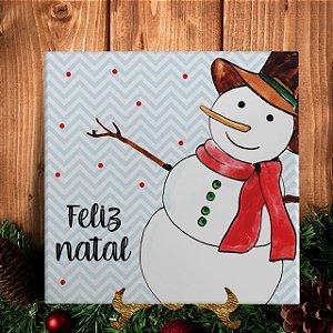 Azulejo Personalizado - Boneco de Neve