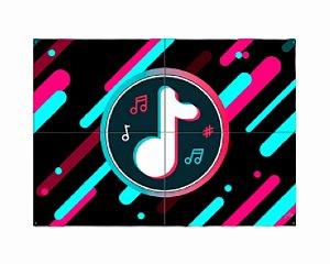 Painel 4 partes - Music movi