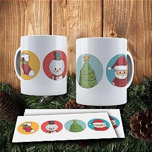 Caneca Cerâmica - Símbolos do Natal