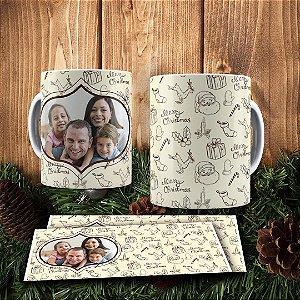 Caneca Cerâmica - Merry Christmas Com Foto