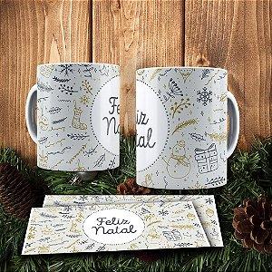 Caneca Cerâmica - Desejos de Natal