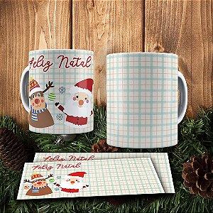Caneca Cerâmica - Feliz Natal Com o Papai Noel
