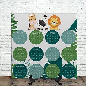Azulejo Personalizado - Calendário da Selva Kids 2021