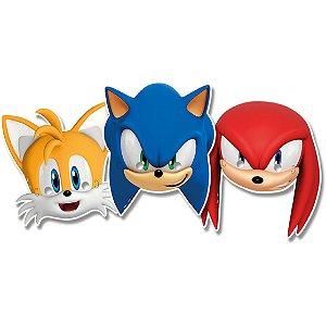 Máscara de papel - Sonic
