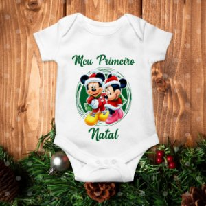 Body Meu Primeiro Natal - Mickey e Minnie