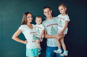 1 Camisa Natal da Família - Com Sobrenome