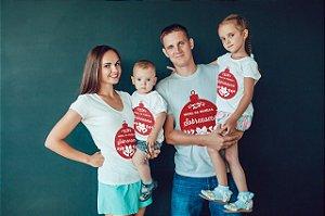 1 Camisa Personalizada - Natal da Família Com Sobrenome
