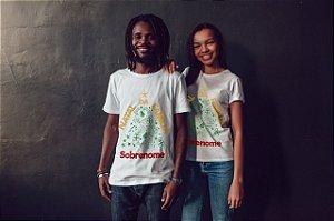 1 Camisa Personalizada - Árvore de Natal da Família Com Sobrenome
