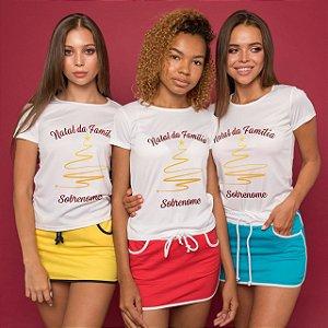 1 Camisa Personalizada - Especial de Natal da Família Com Sobrenome