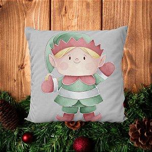 Almofada Elfo do Papai Noel - 30 X 30cm