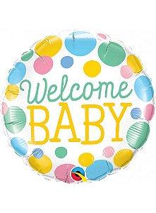 Balão Metalizado 46cm - Welcome Baby