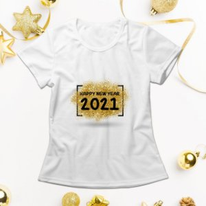 Camisa Personalizada - Happy New Year 2021