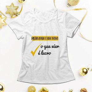 Camisa Personalizada - Metas Para o Ano Novo