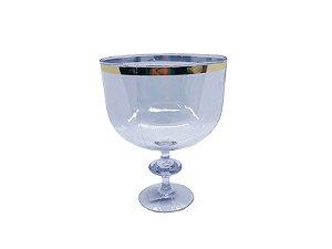 Taça Americana 1,25l - Transparente com borda Dourada