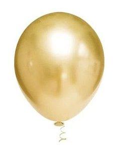 Balão Cromado Dourado N° 5  -Ideal para Topo de Bolo
