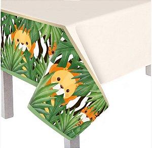 Toalha de Mesa Principal Plástica - Festa Safari