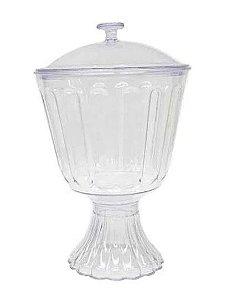 Taça Confeiteiro com Tampa  1,25l - Transparente