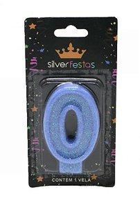 Vela Glitter nº0 Azul