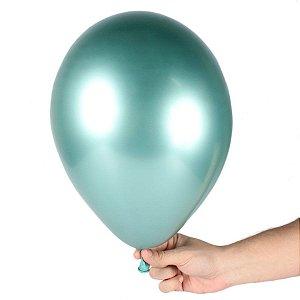 Balão Cromado n° 9 Verde - Art Latex