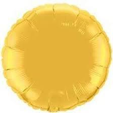 Balão Metalizado Redondo Ouro Cromo 45 cm