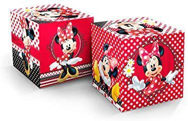 Cubo Decorativo - Minnie- 3 unidades
