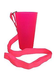 Copo Ecológico - Rosa Neon com Tirante -  500ml