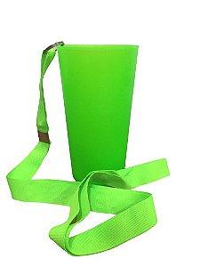 Copo Ecológico - Verde Neon com Tirante -  500ml