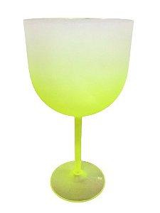 Taça De Gin Degradê  Verde Limão - 01 Unidade