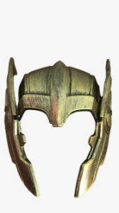 Capacete Dourado Thor - Carnaval