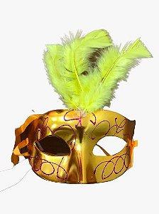 Máscara de Carnaval - Veneza Amarela