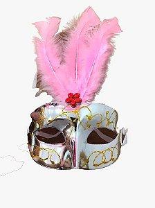 Máscara de Carnaval - Veneza prata