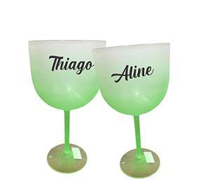 Taça de Gin Personalizada Degrade - Verde - 01 unidade