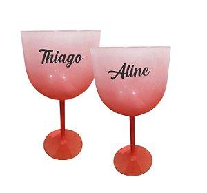 Taça de Gin Personalizada Degrade - Vermelho - 01 unidade