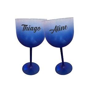 Taça de Gin Personalizada Degrade - Azul - 01 unidade
