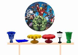 Kit Decoração de Festa Luxo - Vingadores- Fretes Gratís