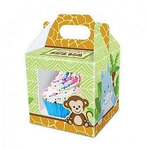 Caixa cupcake - Bem vindo á selva- 8 unidades