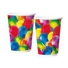 Copos de Papel 180ml - Balões - 12 unidades