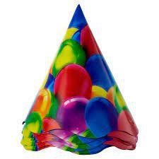 Chapéu de Aniversário Balões - 12 unidades