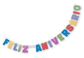 Faixa Decorativa- Feliz Aniversário