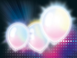 Balão Látex LED - 12 Polegadas - Branco- 5 unidades