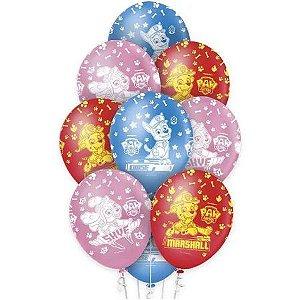 Balão Látex - 12 Polegadas - Patrulha canina- 10 unidades
